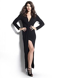 Women's Sexy / Bodycon Dress Asymmetrical Polyester / Spandex