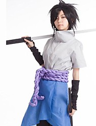 Inspired by Naruto Sasuke Uchiha Anime Cosplay Costumes Cosplay Suits Patchwork Blue Top / Pants / Gloves / Apron / Waist Accessory