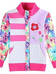 Girl's Cotton/Polyester Jacket & Coat , Winter/Spring/Fall Long Sleeve