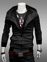 PROMOTION Men's Slim Fit  Fashion Fake Wwo ColoursHooded Cardigan BoWei Cloth Coat