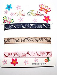 3/8 Inch Eiffel Tower Rib Ribbon Printing Ribbon- 1 Yards Per Roll (Three Color One Card)