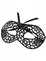 Sexy Hollowed Masquerade Face Mask - Black