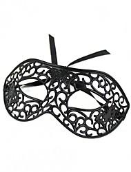 Masque Cosplay Fête / Célébration Déguisement d'Halloween Noir Couleur Pleine Masque Halloween Unisexe