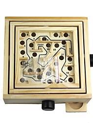 educação madeira habilidade talão labirinto de rolamento jogo de puzzle