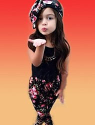 Girl's Floral Clothing Set,Cotton Blend All Seasons