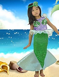 Green Little Mermaid Kids Carnival Costume