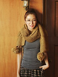 Women's Double-sided Hanging Ball Wool Scarves