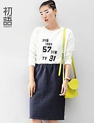 toyouth ® la primavera del 2015 falsi numero due colori vestito allentato