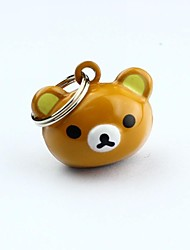 Cat / Dog Tag Waterproof / Bear / With Bell Brown Metal