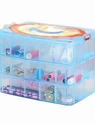 drie lagen van 30 plastic sieraden doos / store inhoud doos