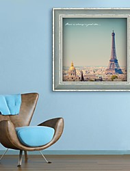 Architecture / Famous Framed Canvas / Framed Set Wall Art,PVC Dark Blue No Mat With Frame Wall Art