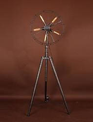 estilo amercian en el tipo industrial de la lámpara de mesa ventilador viento en la sala de estar y comedor para el desván