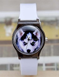 Women's Cute dog Watch  Plastic Watch Circular High Quality  Watch