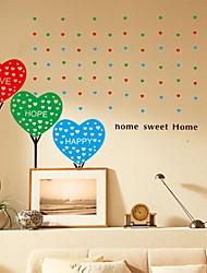 pegatinas etiquetas de la pared, el amor romántico esperan felices pvc pegatinas de pared