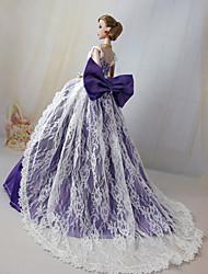 Barbie-Puppe geheimnisvoll elegant Lavendel lila Blase Prinzessin Kleid