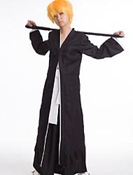 eau de javel Ichigo Kurosaki tergal noir costume de cosplay