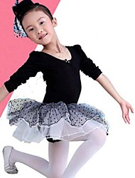 Ballet Kid's Fashion Net Yarn Ballet With Long Sleeves Dress Kids Dance Costumes