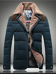 Men's Lamb Wool Lapel High-Grade Day Velvet Large Code 90% White Down Jacket