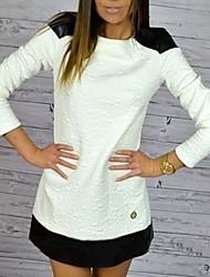 Peach John Women's Long Sleeve Slim Fashion Round Collar Elegance Dress