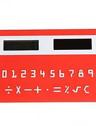 Calculadora de 8 dígitos de mini tarjeta de crédito delgado bolsillo energía solar (color al azar)