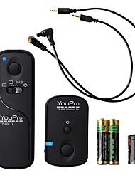 youpro déclencheur de la télécommande sans fil pour tous les appareils photo canon (e3 + socket n3), y compris la marque 7d ii, g10, g11
