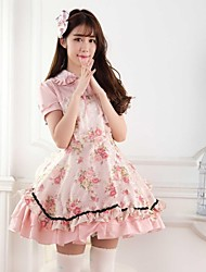Pink Sweet  Lolita Princess Rose Garden  Princess  Dress  Lovely Cosplay