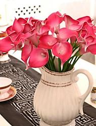 multi-color pu calla flor simulação lírio, conjunto de 8