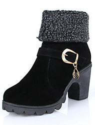 Zhuoyue Women's Fashion All-Match Thick Heel Boots