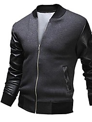 COOLMAN Men Large Pockets Men's Baseball Jacket Slim
