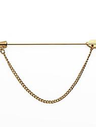 Cupid's Arrow Golden Suit Shirt Corsage Lapel Pin Chain Brooch