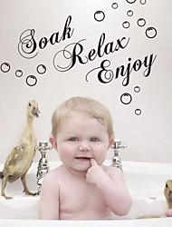Ванная комната наклейка наклейки наклейки для стен, смочите расслабиться насладиться ванная комната наклейку