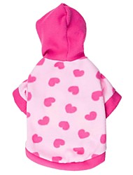 Cat / Dog Hoodie Blue / Pink Dog Clothes Winter Hearts