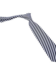 Navy Blue&White Striped Tie