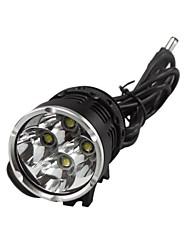fiets zwart met licht koplamp sport zaklamp professionele dark knight K4P 4 geleide usa cree xml-T6 4800lm