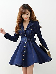 Women's Blue Denim Dress,Casual / Day