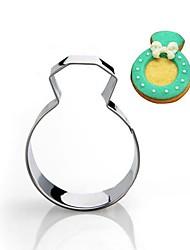 Свадьба кольцо с бриллиантом формы Cookie Cutter, нержавеющая сталь
