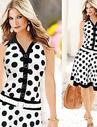 Monta Women's Fashion Casual Polka Dots Dress