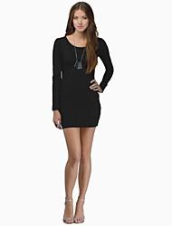 mini vestido clubwear de atrás abierta delgada de las mujeres (más colores)