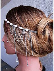 shixin® clásicos diademas de perlas borla de plata (1 unidad)