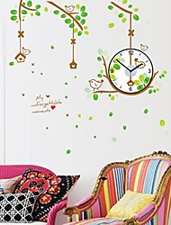Wall Clock Stickers Wall Decals, Birds Home and Feature Removable  PVC Wall Stickers