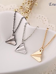 Eruner® Hot Sale Hot Fashion Paper Airplane Necklace Chain Pendant