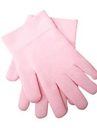 fio-de-rosa da pele mão inverno spa amolecer luva (1 par)
