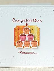 milhão de agradecimentos abençoe mini bolo cartão