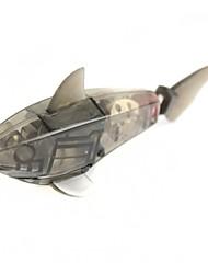 brinquedo peixe eletrônico tubarão para as crianças / filhos - preto translúcido (2 x LR44)