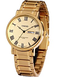 Time100 Men's Fashion Roman Numerals Stainless Steel Strap Classic Business Men Japanese Quartz Watch (Assorted Colors)