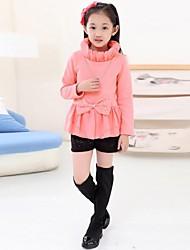 мода сладкий лук высокий воротник блузки девушки