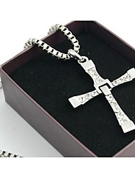 Women's The Fast and the Furious Five  Cross Silver Alloy Movie Pendant Necklace(1 Pc)