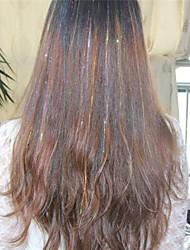 30 polegadas 100 unidades mulheres a laser longas retas postiços extensões de cabelo