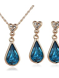 Jewelry Set Crystal Crystal Drop Silver Golden Wedding Party Casual Necklaces Earrings Wedding Gifts