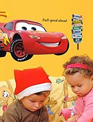 decalques de parede adesivos de parede, carros dos desenhos animados de parede Relâmpago McQueen pvc etiquetas
